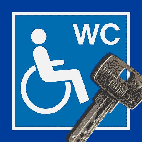 schlüssel behinderten wc