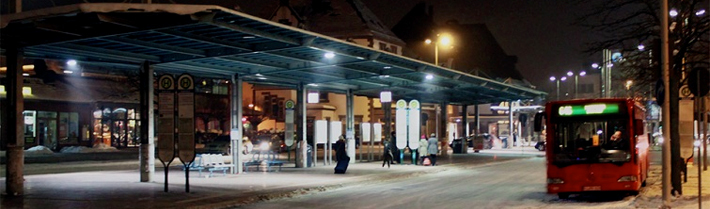 Busbahnhof Winter (© Hansestadt Herford)