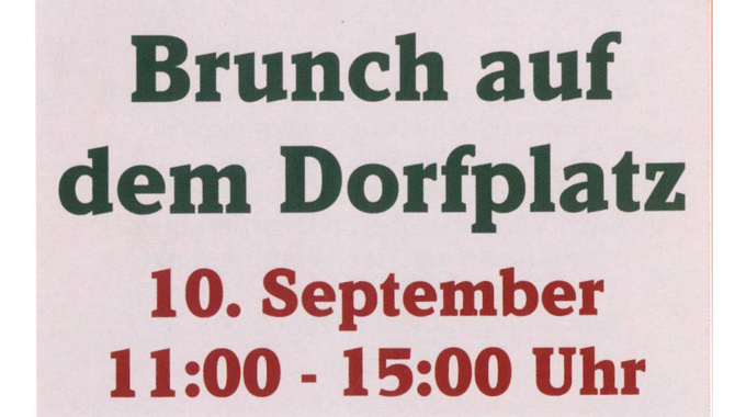 Bürgerbrunch am 10. September